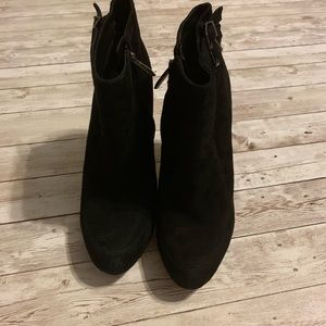 Sam Edelman Shoes - Sam Edelman Black Suede Side Buckle Ankle Booties